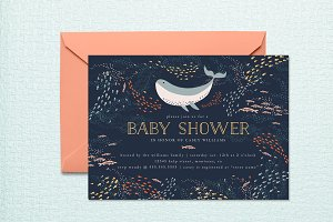 Marine Life Baby Shower Invite
