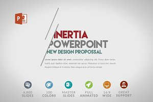 Inertia | PPT Template 50% OFF
