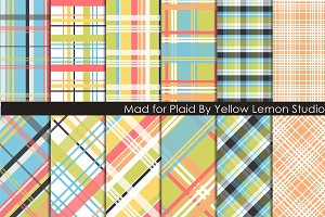 Spring and Summer Plaid Backgrounds