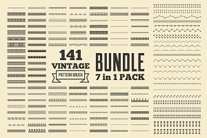 Vintage Patterns Brushes Bundle