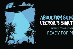 Abduction Silhouette T-Shirt Vector