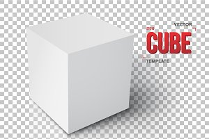 Realistic Vector Cube Template