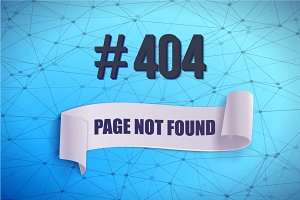 Error 404 Wireframe Vector Banner