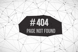 Page Not Found Polygonal Background