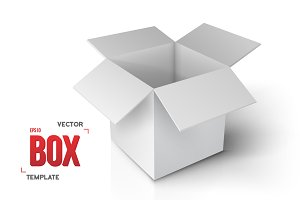 Vector Paper Open Box Isolated