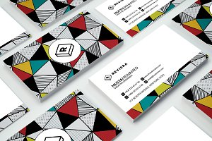 Triangles Pattren Business card
