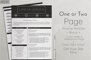 Professional Resume Template 40%Off