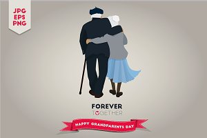 Illustration For Grandparents Day