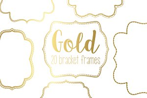 Gold Bracket Frame Bundle