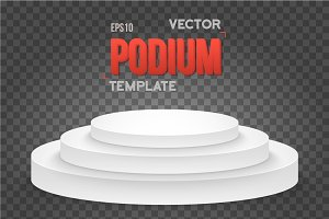 Winner Podium Vector Stage