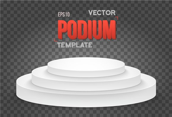 Winner Podium Vector Stage