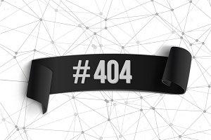 Error 404 Futuristic Vector Banner