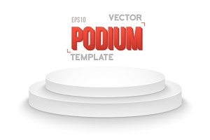 Winner Podium Vector Stage Isolated
