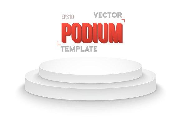 Winner Podium Vector Stage Isolated