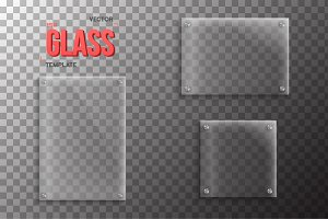 Vector Glass Plate Template Set