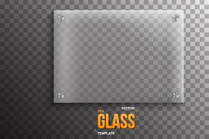 Vector Glass Plate Template