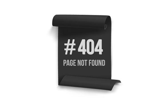 Error 404 Vector Banner