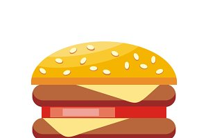 Burger Hamburger Isolated