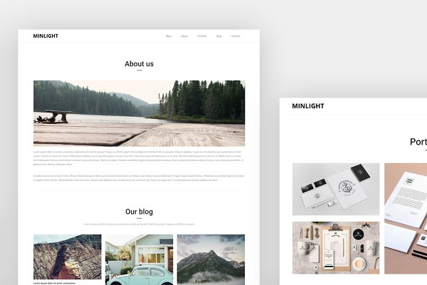 HTML/CSS Themes: valthemes - Minlight - Minimal Creative Theme