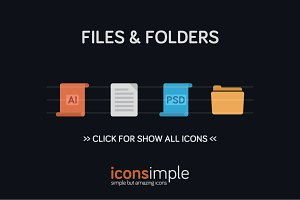 iconsimple: files & folders