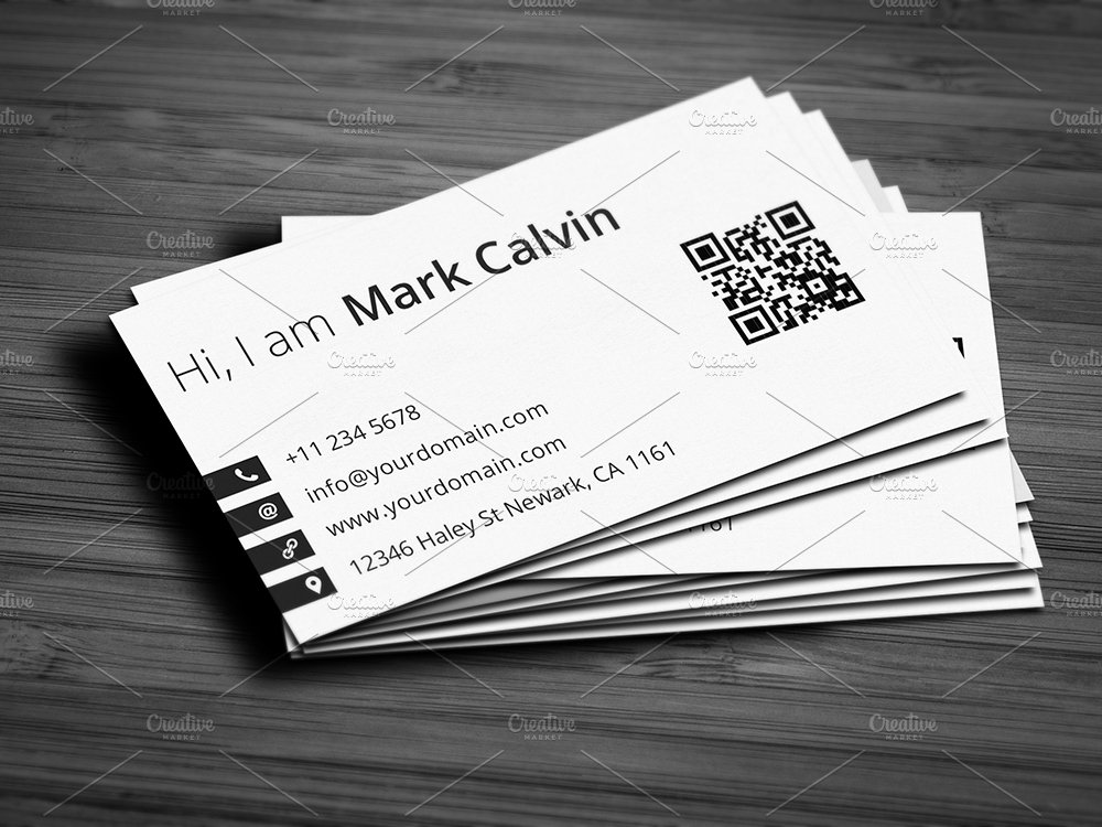 Single business card template reheart Choice Image