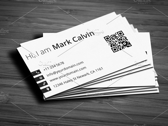 Simple Individual Business Card V Business Card Templates - Single business card template