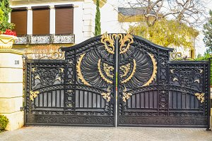 Old beautiful wrought iron gates LA