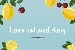 Patterns with lemon and cherry