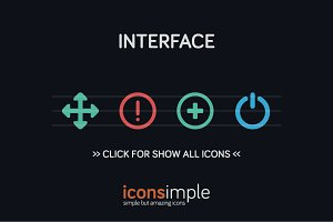 iconsimple: interface