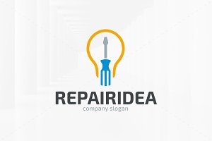 Repair Idea Logo Template