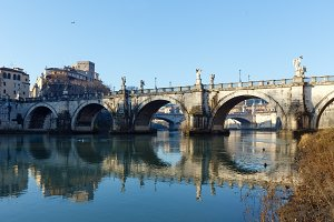 Rome city morning view, Italy.