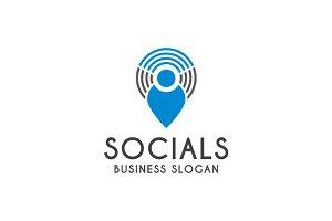 Modern Social Tech Logo