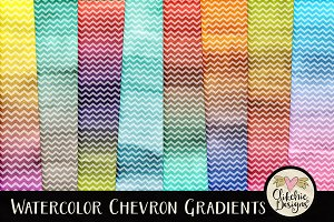 Watercolor Chevron Gradients Texture
