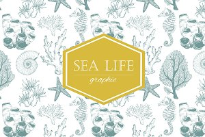 "Graphic set of ""Sea Life"""