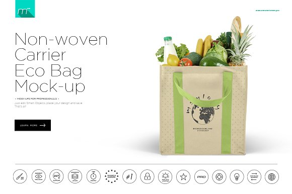 Download Non-woven Carrier Eco Bag Mock-up