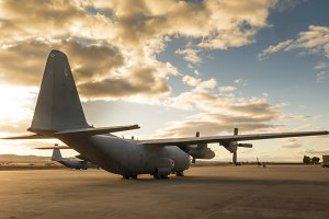 Hercules aircraf on land