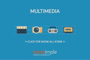 iconsimple: multimedia
