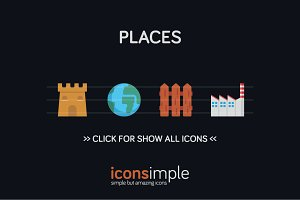 iconsimple: places