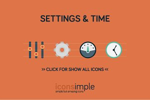 iconsimple: settings & time