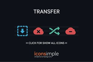 iconsimple: transfer