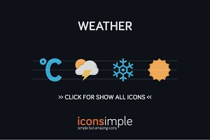 iconsimple: weather