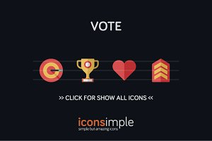 iconsimple: vote