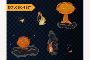 Explosion animation alpha background
