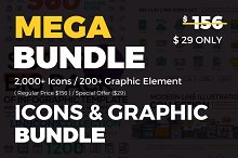 Icons & Graphic Bundle - 90% OFF