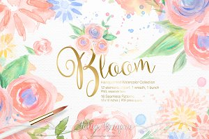 Bloom Watercolor Collection
