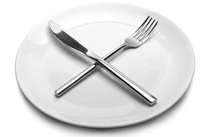 fork, knife on plate