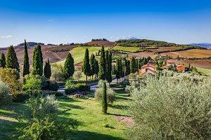 Tuscany countryside landscape, Italy