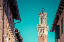 Mangia Tower in Siena, Italy.