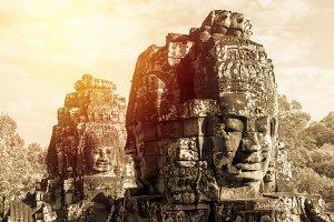 Face of Bayon Castle (Angkor Thom)