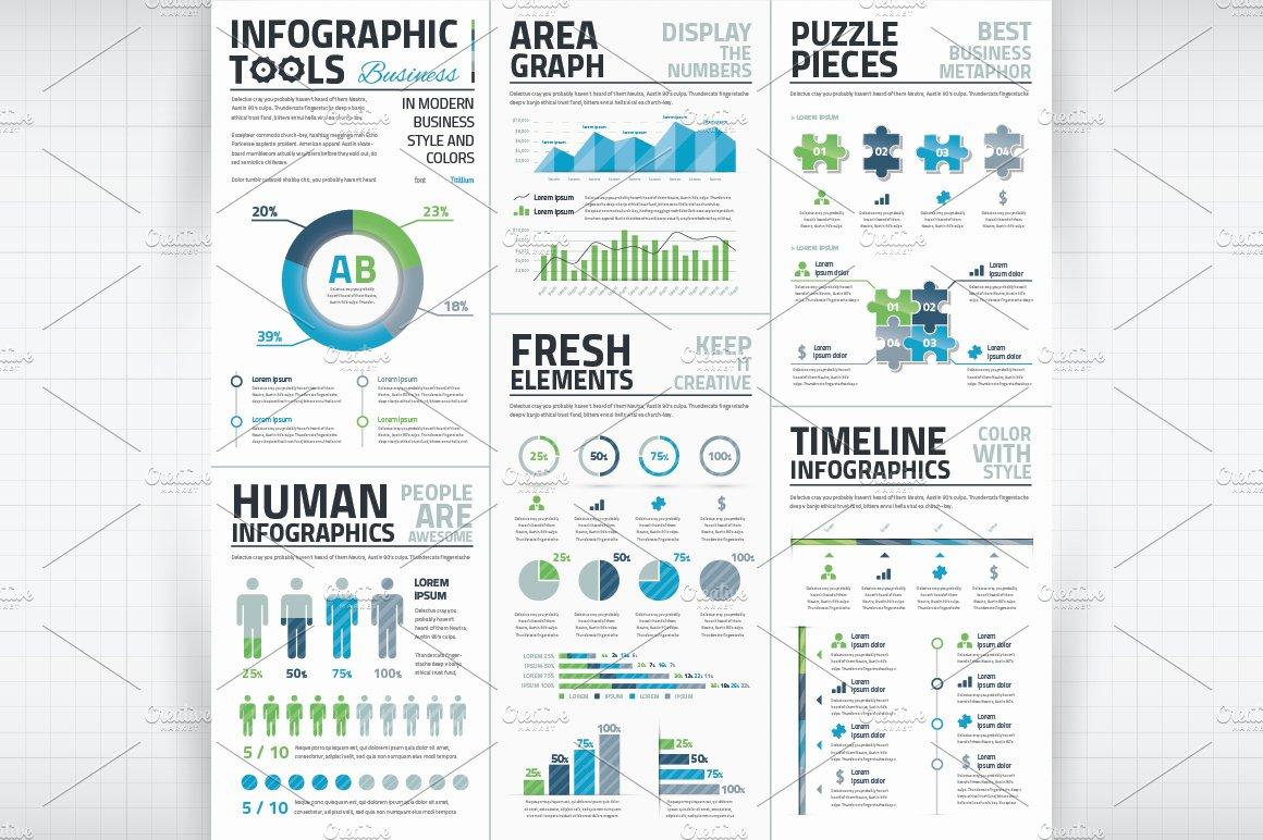 Infographic template for word